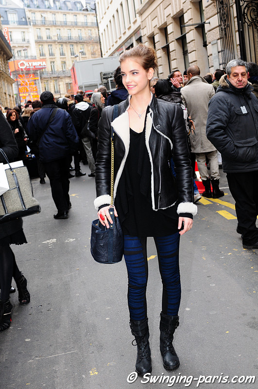Barbara Palvin leaving Chanel show, Paris Fashion Week, January 2011