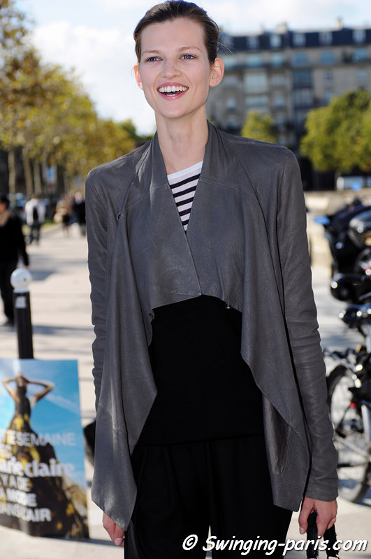 Bette Franke leaving Christian Dior show, Paris S/S 2013 RtW Fashion Week, September 2012