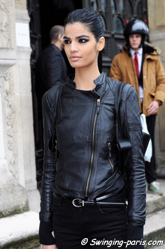 Bhumika Arora leaving Zuhair Murad show, Paris Haute Couture F/W 2014 Fashion Week, July 2014
