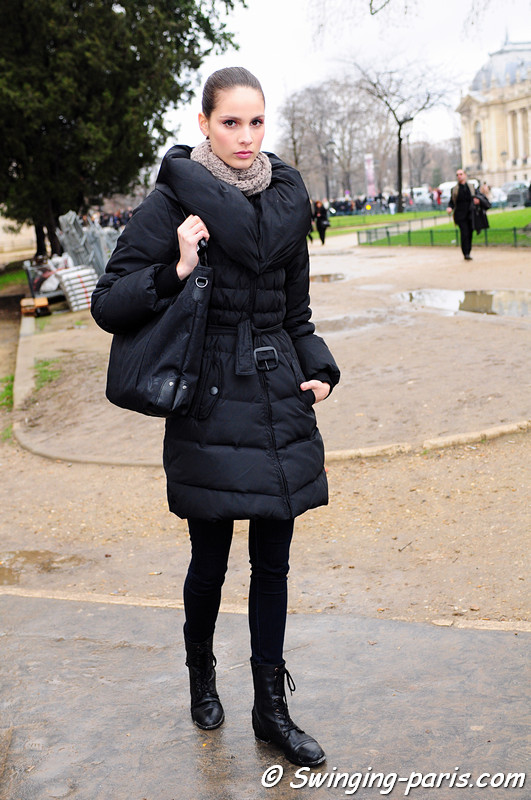 Brenda Kranz leaving Elie Saab show, Paris Haute Couture S/S 2012 Fashion Week, January 2012