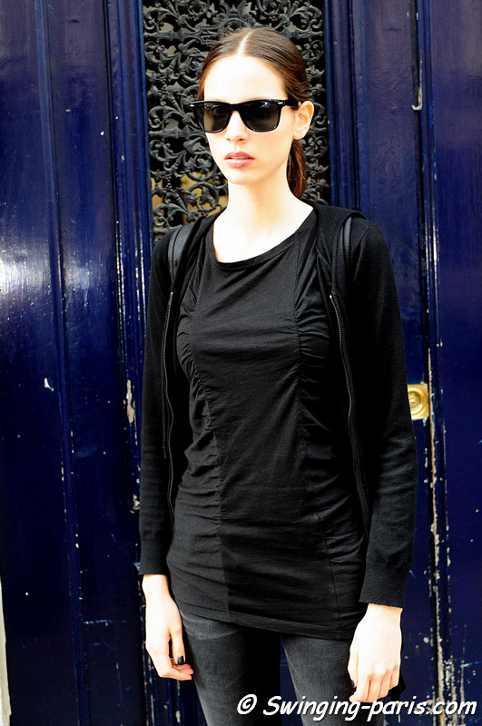 Brenda Kranz after Valentino show, Paris Haute Couture F/W Fashion Week, July 2011