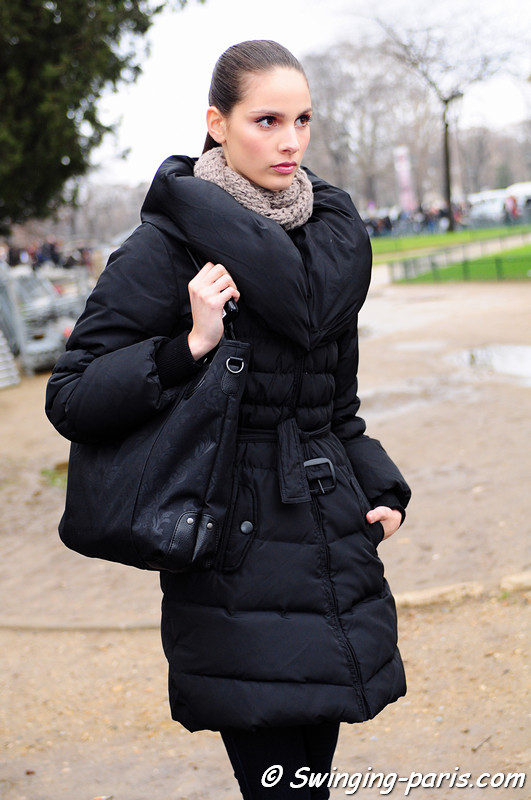 Brenda Kranz leaving Elie Saab show, Paris Haute Couture S/S 2012 Fashion Week, January 2012