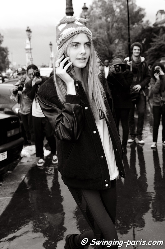 Cara Delevingne outside Rochas show, Paris S/S 2013 RtW Fashion Week, September 2012