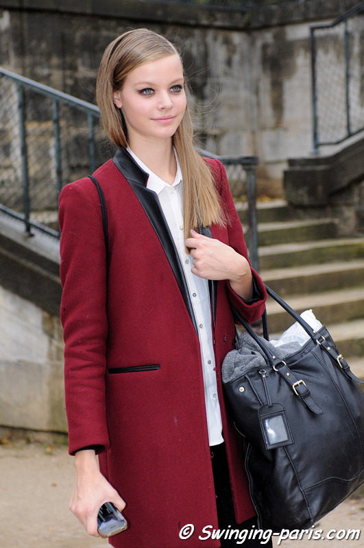 Carolin Loosen leaving Elie Saab show, Paris S/S 2013 RtW Fashion Week, October 2012