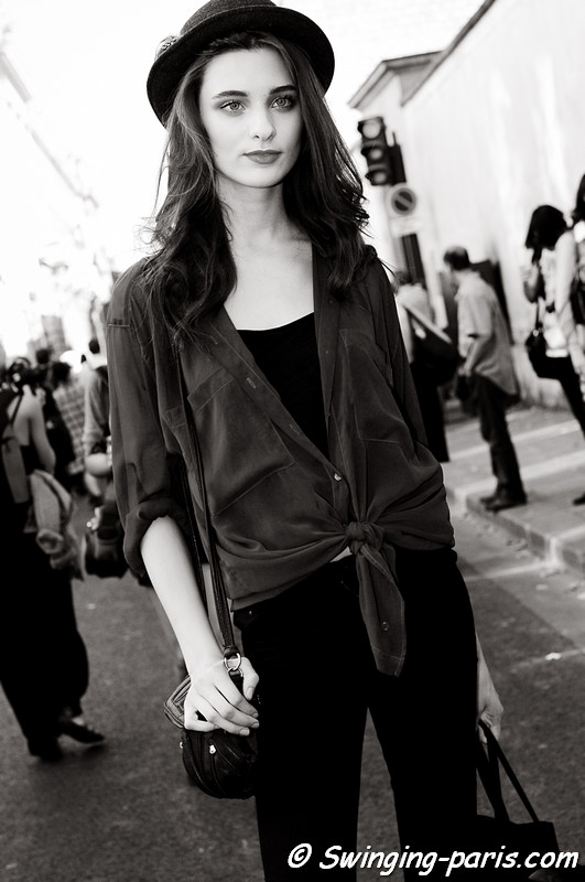 Carolina Thaler after Christian Dior show, Paris S/S 2012 Fashion Week, September 2011