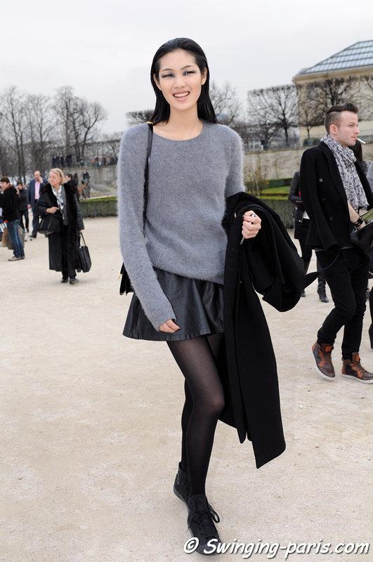 Chiharu Okunugi after Elie Saab show, Paris F/W 2013 RtW Fashion Week, March 2013