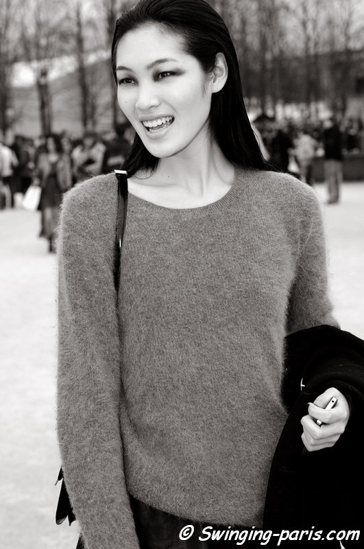 Chiharu Okunugi after Elie Saab show, Paris F/W 2013 RtW Fashion Week, March 2013