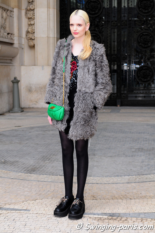 Chrystal Copland leaving Allude show, Paris F/W RtW 2012 Fashion Week, March 2012