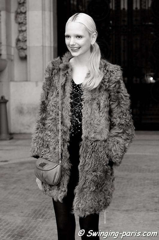 Chrystal Copland leaving Allude show, Paris F/W RtW 2012 Fashion Week, March 2012
