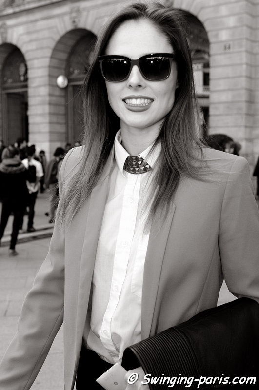 Coco Rocha leaving Giambattista Valli show, Paris F/W 2013 RtW Fashion Week, March 2013