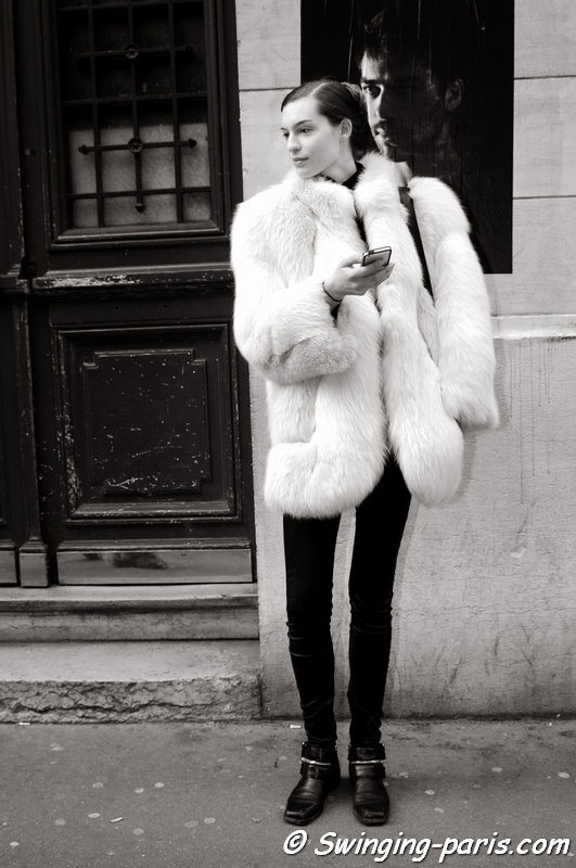 Cristina Mantas outside Maison Martin Margiela show, Paris Haute Couture S/S 2014 Fashion Week, January 2014
