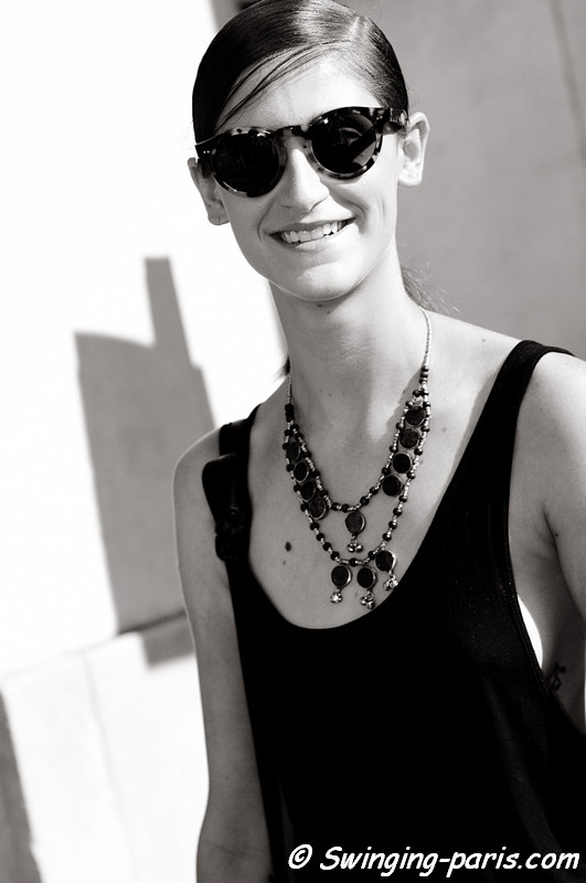 Daiane Conterato after Dries van Noten show, Paris S/S 2012 Fashion Week, September 2011