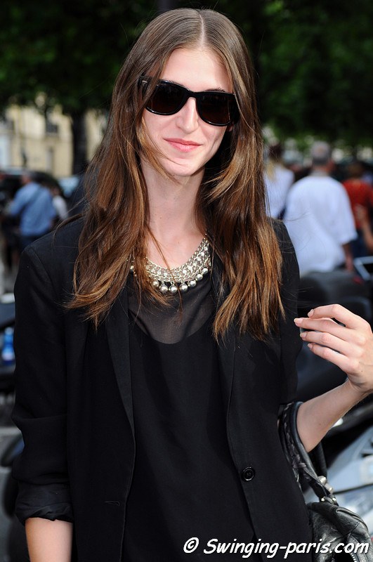 Daiane Conterato exiting Christian Dior show, Paris Haute Couture F/W 2012 Fashion Week, July 2012
