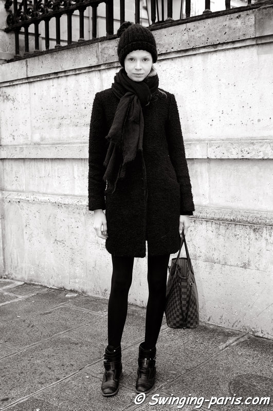 Daniela Witt outside Rad Hourani show, Paris Haute Couture S/S 2014 Fashion Week, January 2014