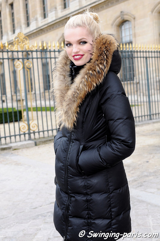 Daphne Groeneveld leaving Louis Vuitton show, Paris F/W 2013 RtW Fashion Week, March 2013