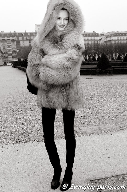 Daria Strokous (Дарья Строкоус) outside Christian Dior show, Paris F/W 2013 RtW Fashion Week, February 2013