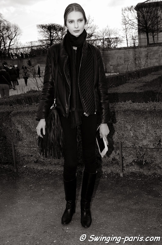 Dasha Gold after Valentino show, Paris F/W 2014 RtW Fashion Week, March 2014