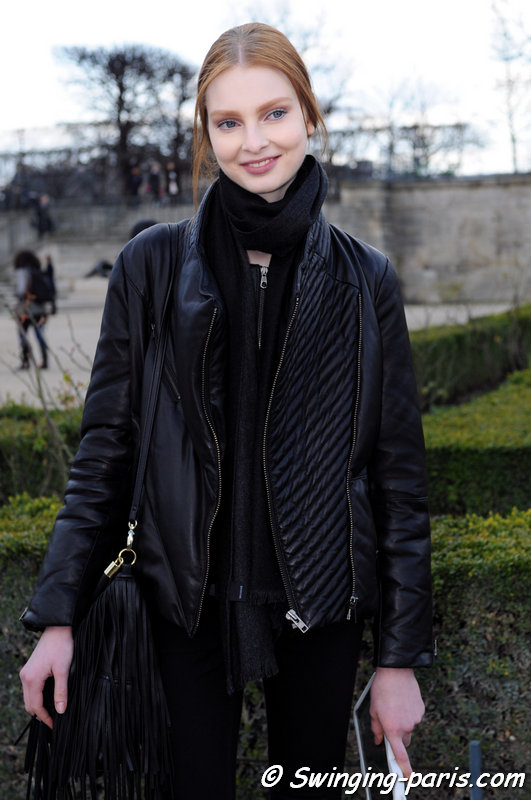 Dasha Gold after Valentino show, Paris F/W 2014 RtW Fashion Week, March 2014