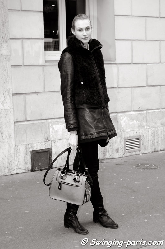 Dauphine McKee outside Maison Martin Margiela show, Paris Haute Couture S/S 2014 Fashion Week, January 2014