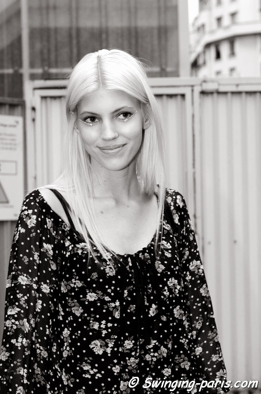 Devon Windsor outside Alexandre Vauthier show, Paris Haute Couture F/W 2014 Fashion Week, July 2014