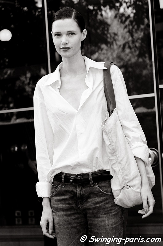Diana Gärtner outside Alexis Mabille show, Paris Haute Couture F/W Fashion Week, July 2011