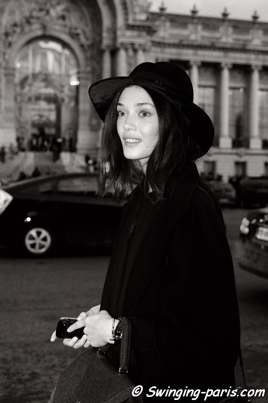 Diana Moldovan leaving Vanessa Bruno show, Paris F/W 2014 RtW Fashion Week, February 2014