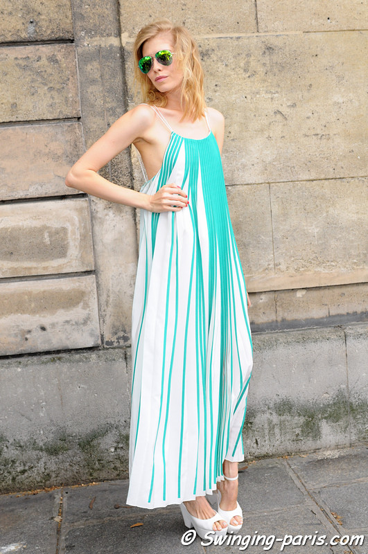 Elena Perminova ( ) outside Valentino show, Paris Haute Couture F/W 2012 Fashion Week, July 2012
