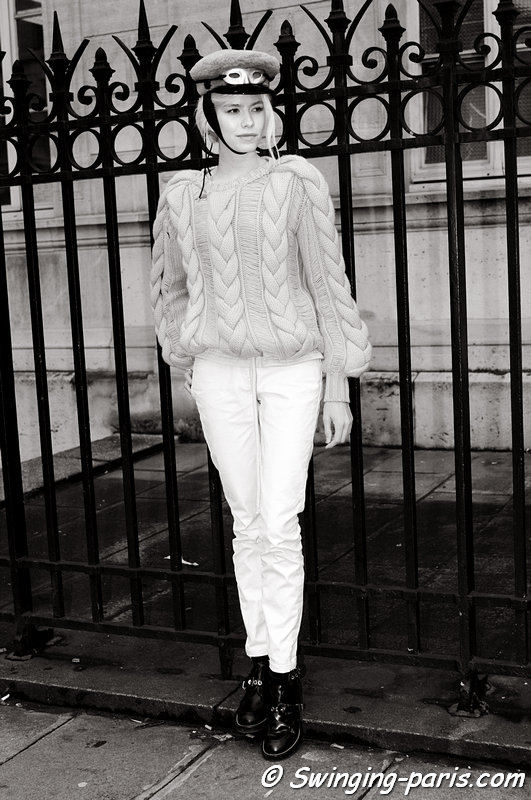 Elena Perminova (Елена Перминова) outside Jean Paul Gaultier show, Paris Haute Couture S/S 2013 Fashion Week, January 2013