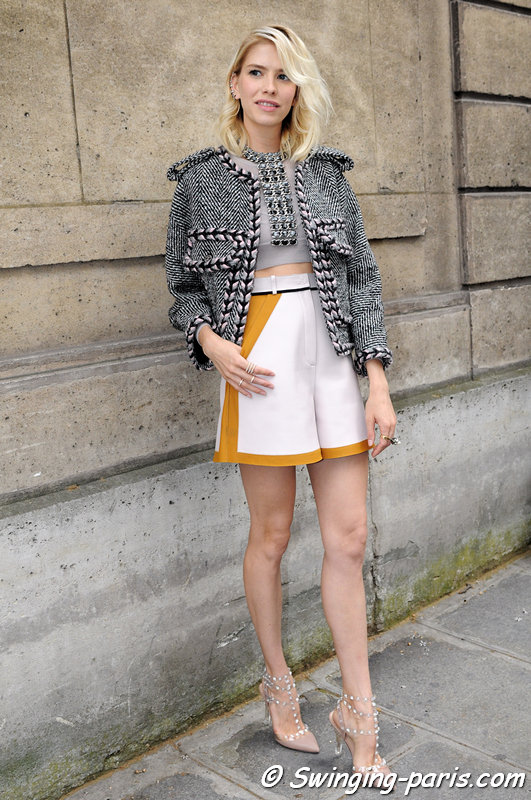 Elena Perminova (Елена Перминова) leaving Valentino show, Paris Haute Couture F/W 2013 Fashion Week, July 2013