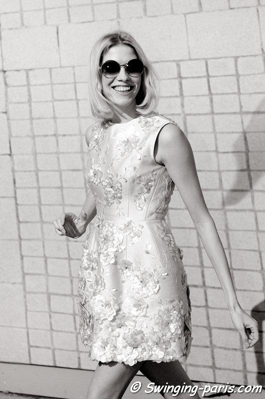 Elena Perminova (Елена Перминова) outside Giambattista Valli show, Paris F/W 2013 RtW Fashion Week, March 2013