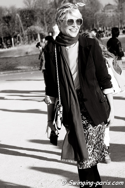 Elisa Nalin outside Chlo show, Paris Fashion Week, March 2011