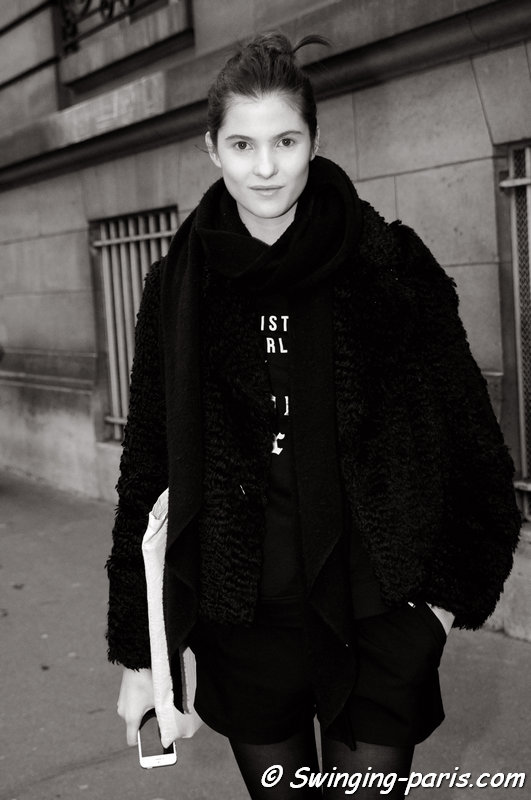 Estee Rammant leaving Bouchra Jarrar show, Paris Haute Couture S/S 2014 Fashion Week, January 2014