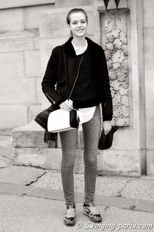 Esther Heesch outside Chanel show, Paris Haute Couture S/S 2014 Fashion Week, January 2014