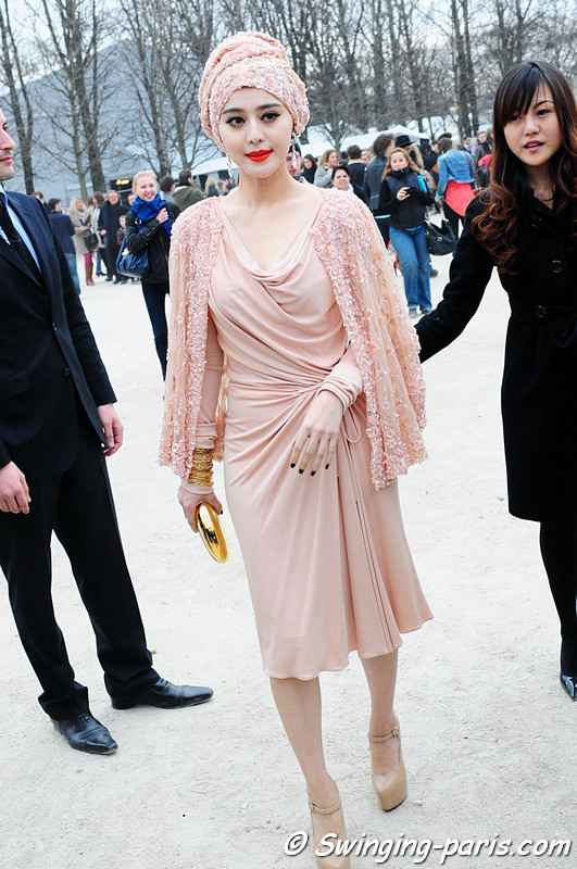 Fan Bingbing () leaving Louis Vuitton show, Paris F/W RtW 2012 Fashion Week, March 2012