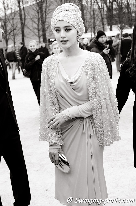Fan Bingbing (范冰冰) leaving Louis Vuitton show, Paris F/W RtW 2012 Fashion Week, March 2012