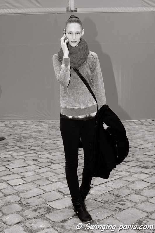 Franziska (Franzi) Mller leaving Louis Vuitton show, Paris F/W RtW 2012 Fashion Week, March 2012