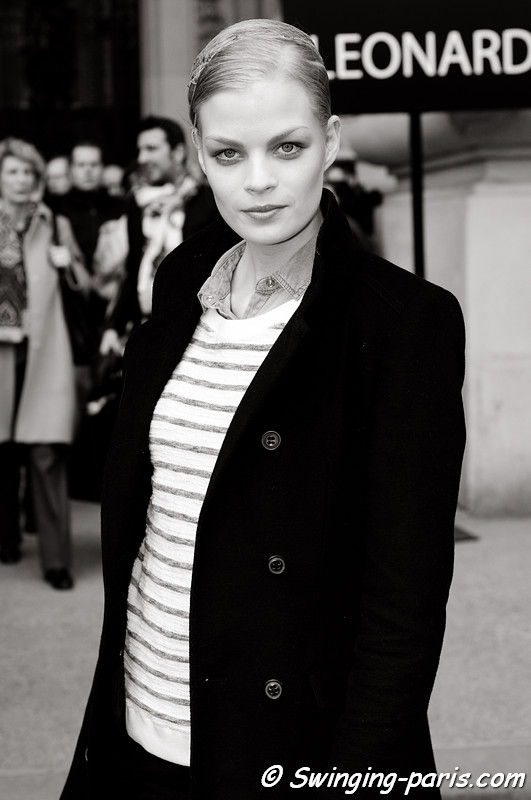 Franziska Frank leaving Léonard show, Paris F/W RtW 2012 Fashion Week, March 2012