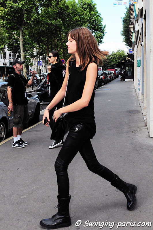 Freja Beha Erichsen exiting Valentino show, Paris Haute Couture F/W Fashion Week, July 2011