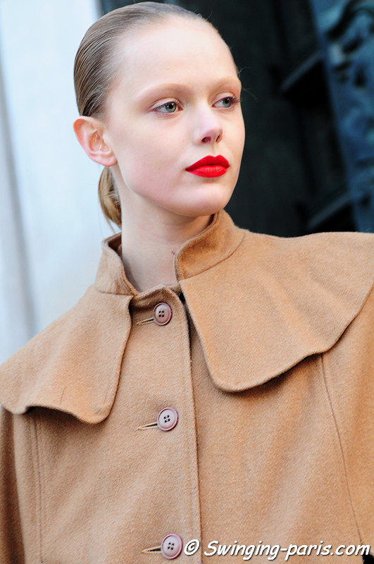 Frida Gustavsson leaving Rick Owens show, Paris Fashion Week, March 2011