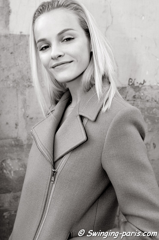 Ginta Lapina leaving Giambattista Valli show, Paris S/S 2013 RtW Fashion Week, October 2012