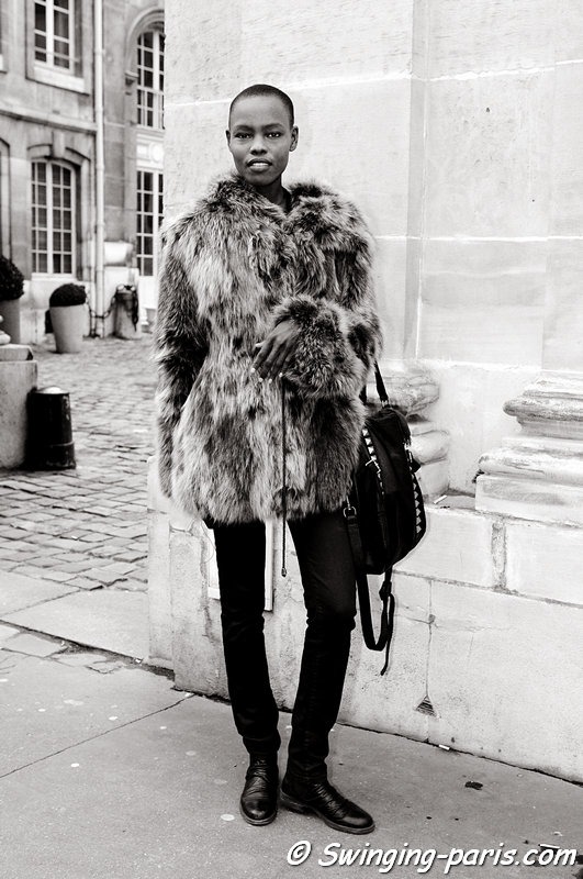 Grace Bol after Moon Young Hee show, Paris F/W 2013 RtW Fashion Week, February 2013