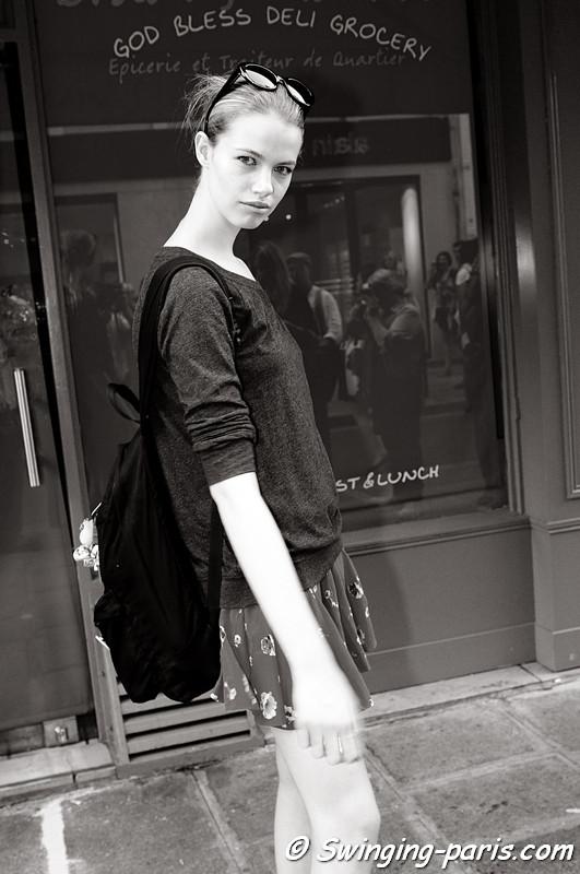 Hailey Clauson leaving Giambattista Valli show, Paris Haute Couture F/W Fashion Week, July 2011