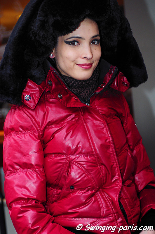 Hanaa Ben Abdesslem exiting Jean Paul Gaultier show, Paris Haute Couture S/S 2012 Fashion Week, January 2012.