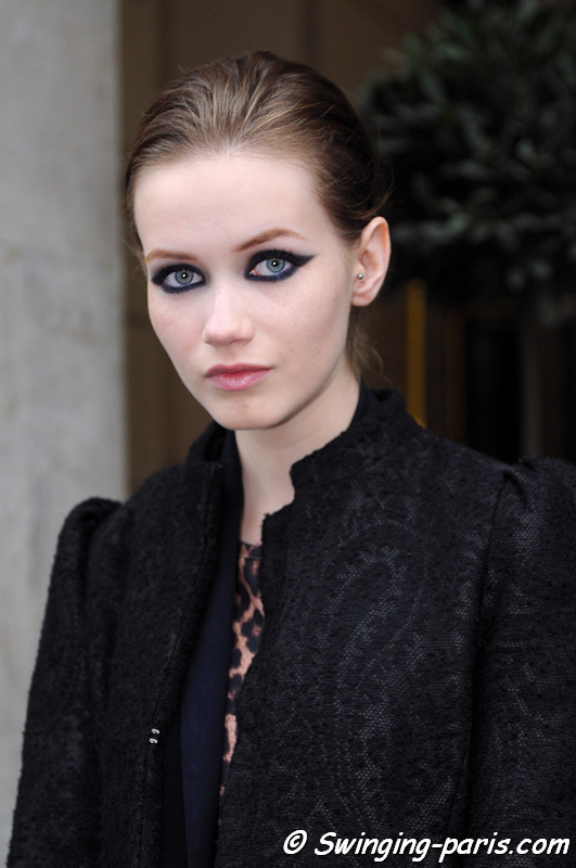 Hanna Koczewska leaving Talbot Runhof show, Paris S/S 2013 RtW Fashion Week, October 2012