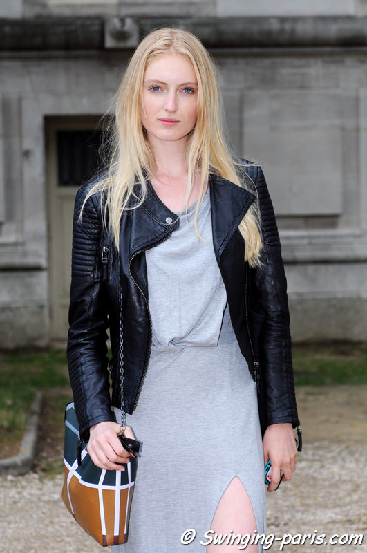 Hannare Blaauboer outside Chanel show, Paris Haute Couture F/W 2014 Fashion Week, July 2014