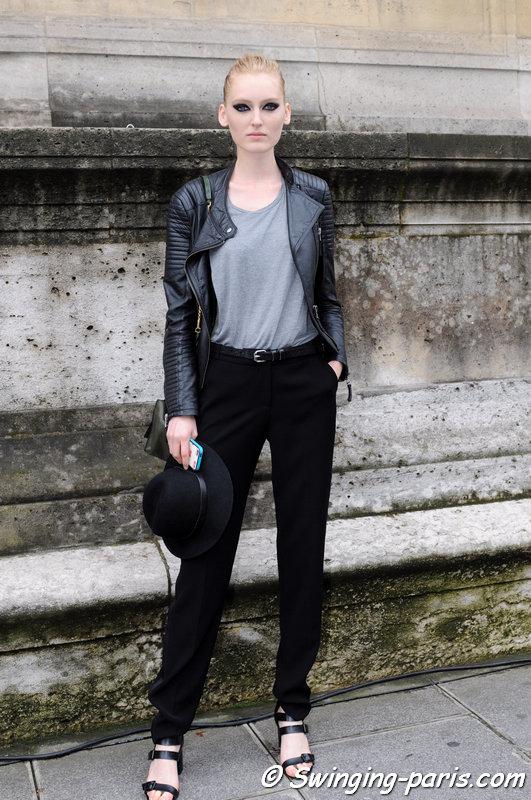 Hannare Blaauboer outside Zuhair Murad show, Paris Haute Couture F/W 2014 Fashion Week, July 2014