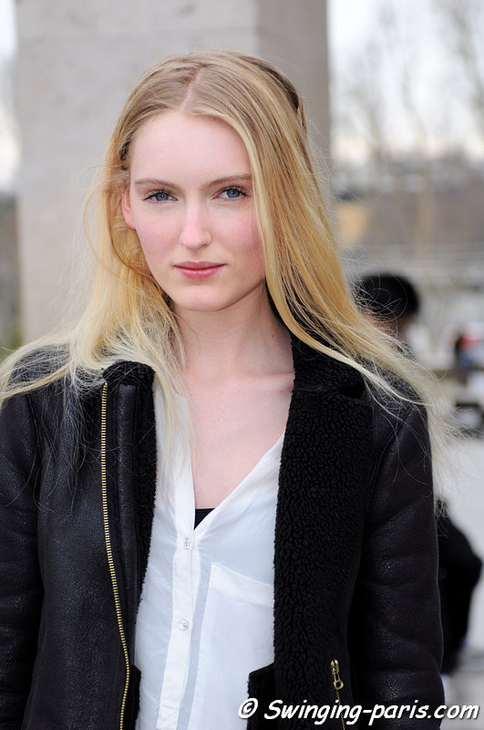 Hannare Blaauboer leaving Allude show, Paris F/W 2013 RtW Fashion Week, March 2013