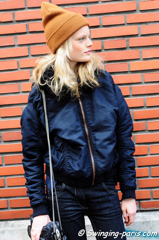 Hanne Gaby Odiele leaving Bouchra Jarrar show, Paris Haute Couture S/S 2012 Fashion Week, January 2012