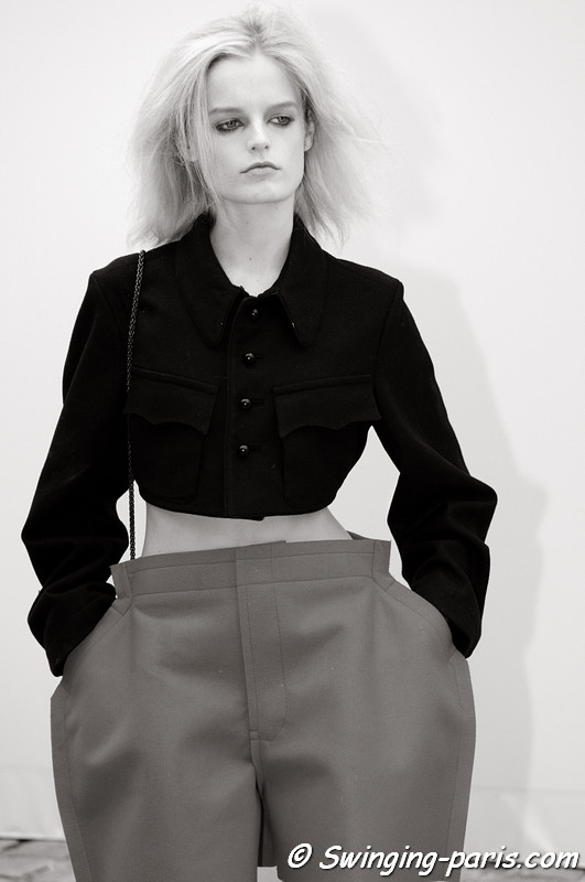 Hanne Gaby Odiele leaving Louis Vuitton show, Paris S/S 2013 RtW Fashion Week, October 2012