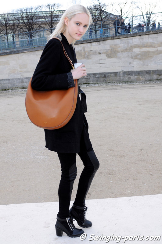 Harleth Kuusik outside Valentino show, Paris F/W 2014 RtW Fashion Week, March 2014